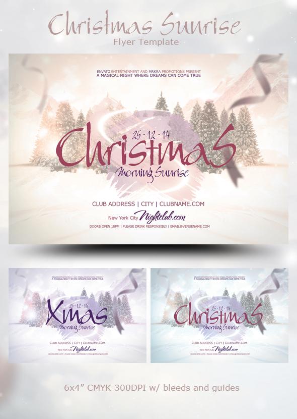 Christmas Sunrise 2014 Flyer by mrkra
