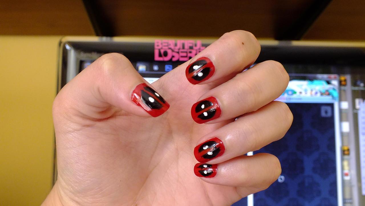 Deadpool Nails by aiko-chan14 on DeviantArt