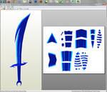 Homestuck - Vriska's sword papercraft