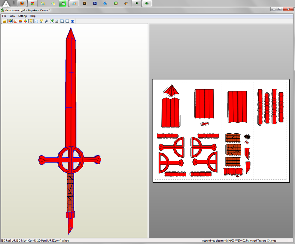 Adventure Time - Demon Sword Papercraft by aiko-chan14