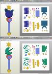 SailorMoon - Uranus and Neptune LipRods Papercraft