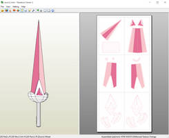 Bee and Puppycat - Bee's Sword Papercraft