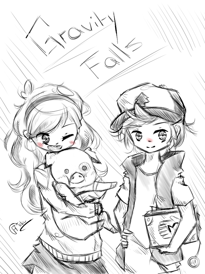 Little sketch #5 Mystery twins by cristhina64