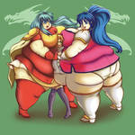 fat Eirika and fat Tana and someone who isnt fat
