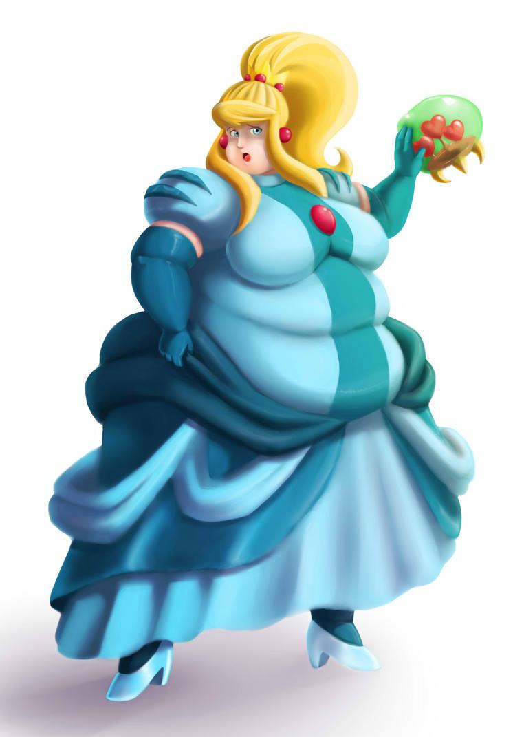 Samus fat princess by Eishiban on DeviantArt
