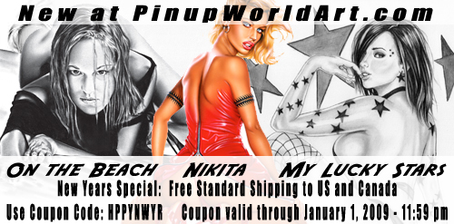 New pieces - New Years coupon by PinUp-World-Art