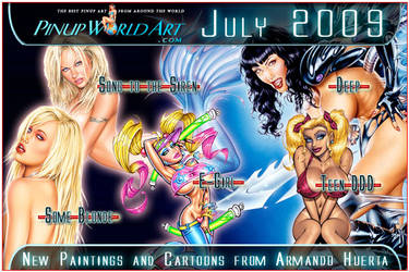 New Armando Huerta pieces by PinUp-World-Art