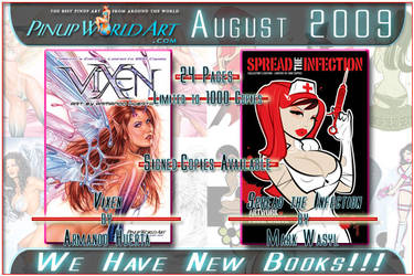 New books by Huerta and Wasyl by PinUp-World-Art