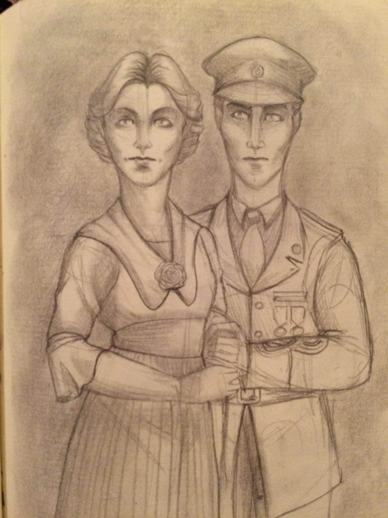 Sketchbok - Bryce and Violet by Giuliabeck