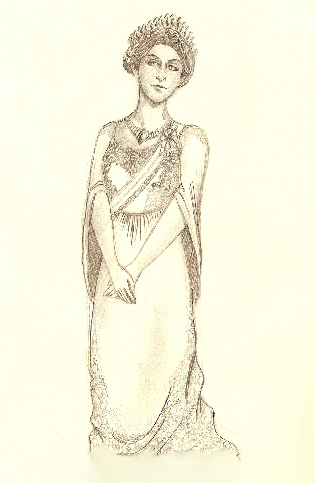 Sketch - Queen Adrianna by Giuliabeck