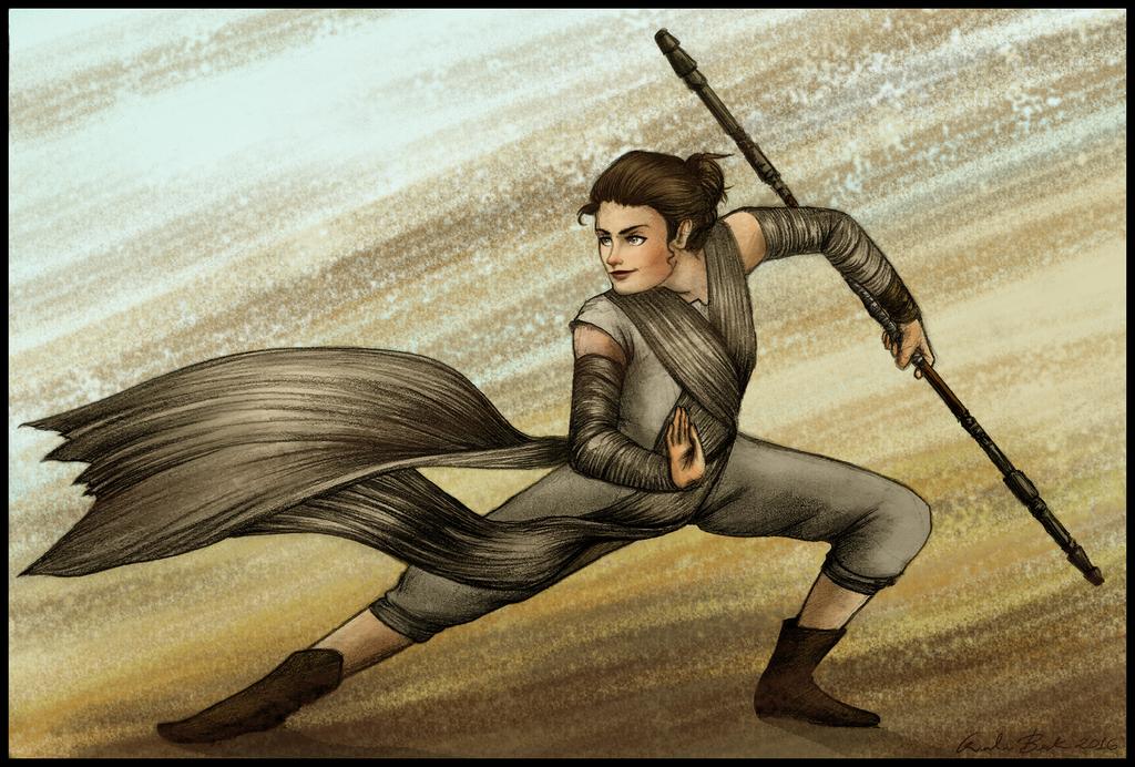 Rey -  Star Wars VII by Giuliabeck