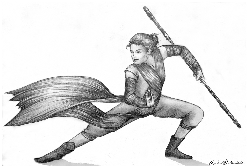 Rey - pencil by Giuliabeck