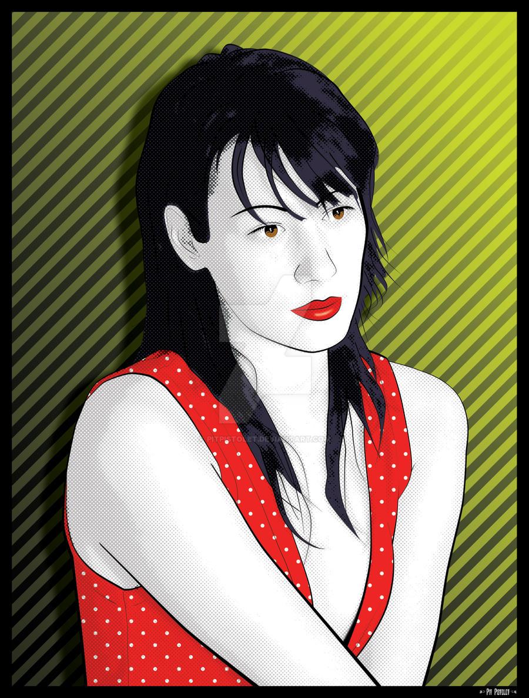 Red top Pop Art by PitPistolet