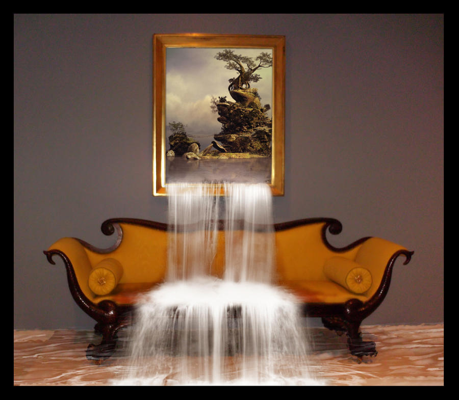 Wall waterfall by PitPistolet on deviantART