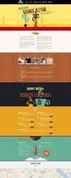 Spanish Language School single page layout by PitPistolet