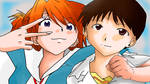 Asuka and Shinji | Evangelion by AussieIkari