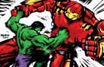 Hulk vs. Hulkbuster Iron Man