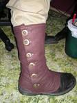 Brown wool spats 1