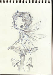 Scketch Fairy by violet-shadow7