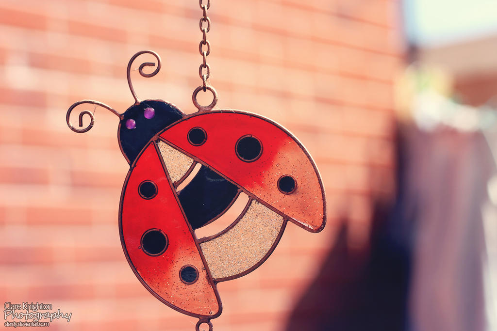 Lady Bug WIndchime by Clerdy