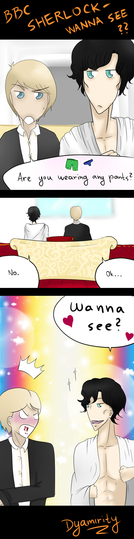 BBC Sherlock - Wanna See? by Dyamirity
