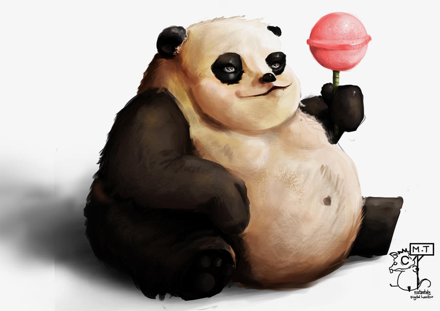 Beautiful Panda Chubby Adorable Dog - fat_panda_by_happy_rat-d3llzh7  You Should Have_479190  .jpg