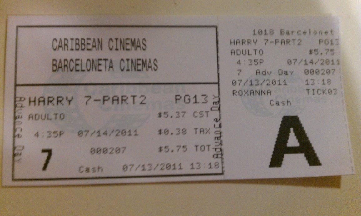 my harry potter movie ticket by zygma on deviantart