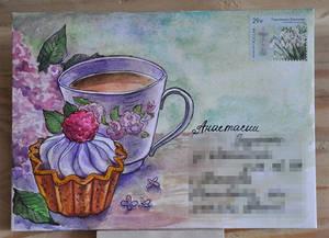 Cake/mail-art