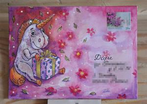 Unicorn/mail-art