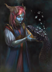 Demoness with a snake
