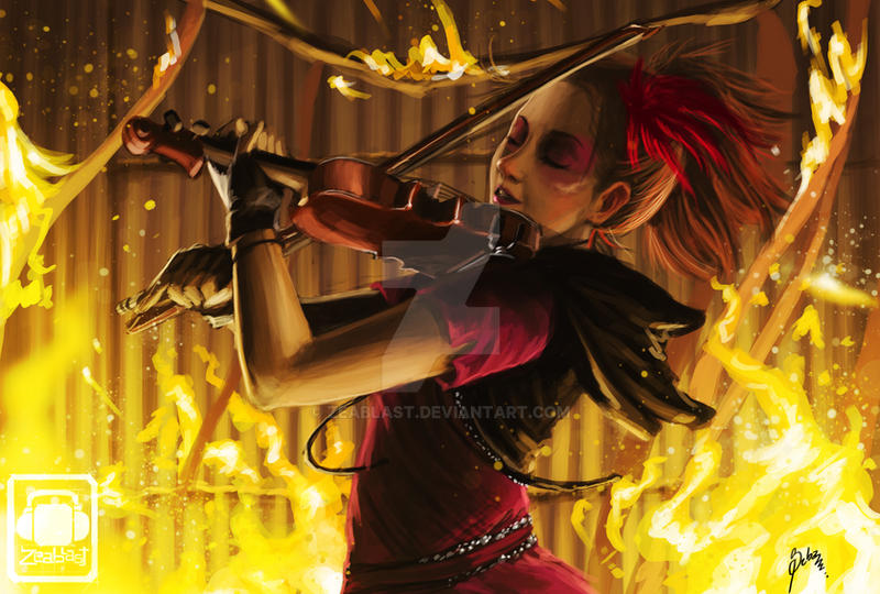 fan art lindsey stirling by Zeablast