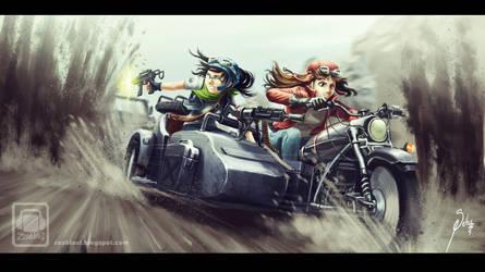 girls in action! by Zeablast