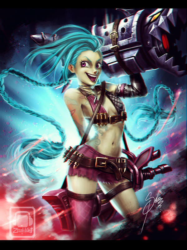 jinx League of Legends by Zeablast