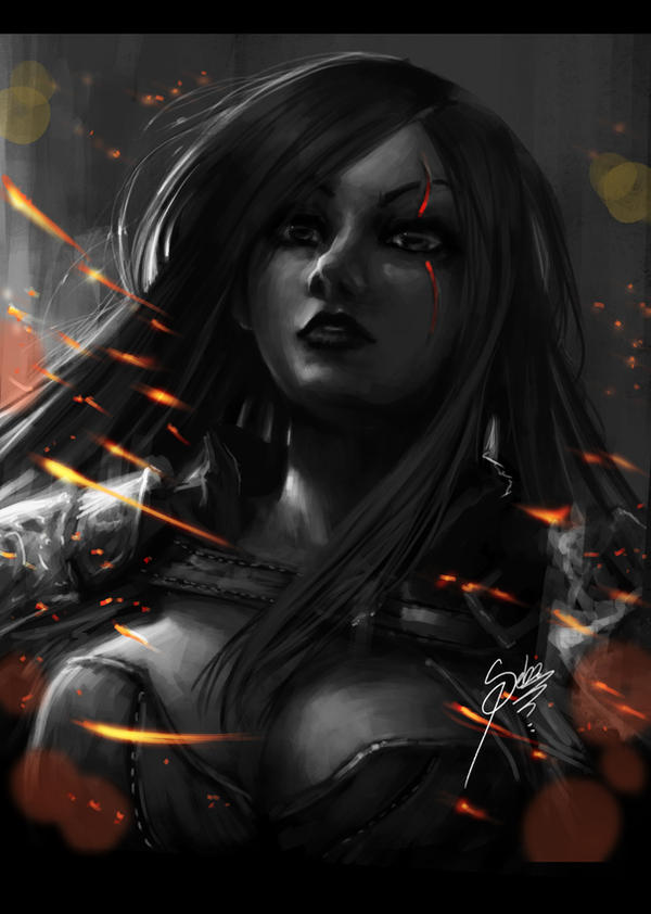 Katarina league of legends by Zeablast