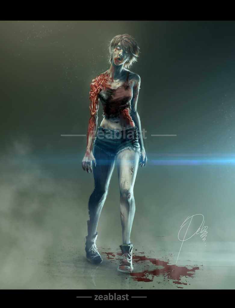 Zombie resident evil 2 by Zeablast