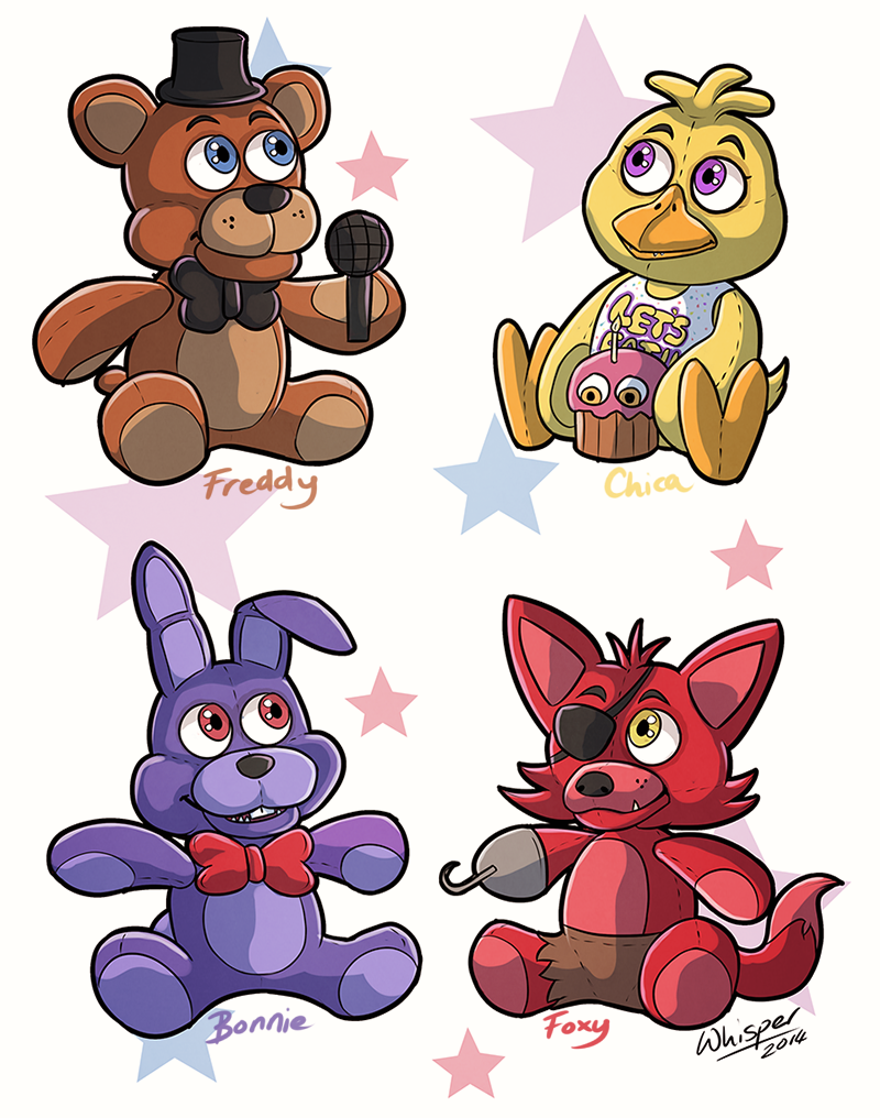 Fnaf Plushies By Whisperorca On Deviantart
