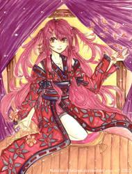 Contest Entry: Girl in Kimono by AkaReikou