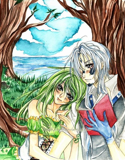 Commission: Anasteria and Zeo by AkaReikou