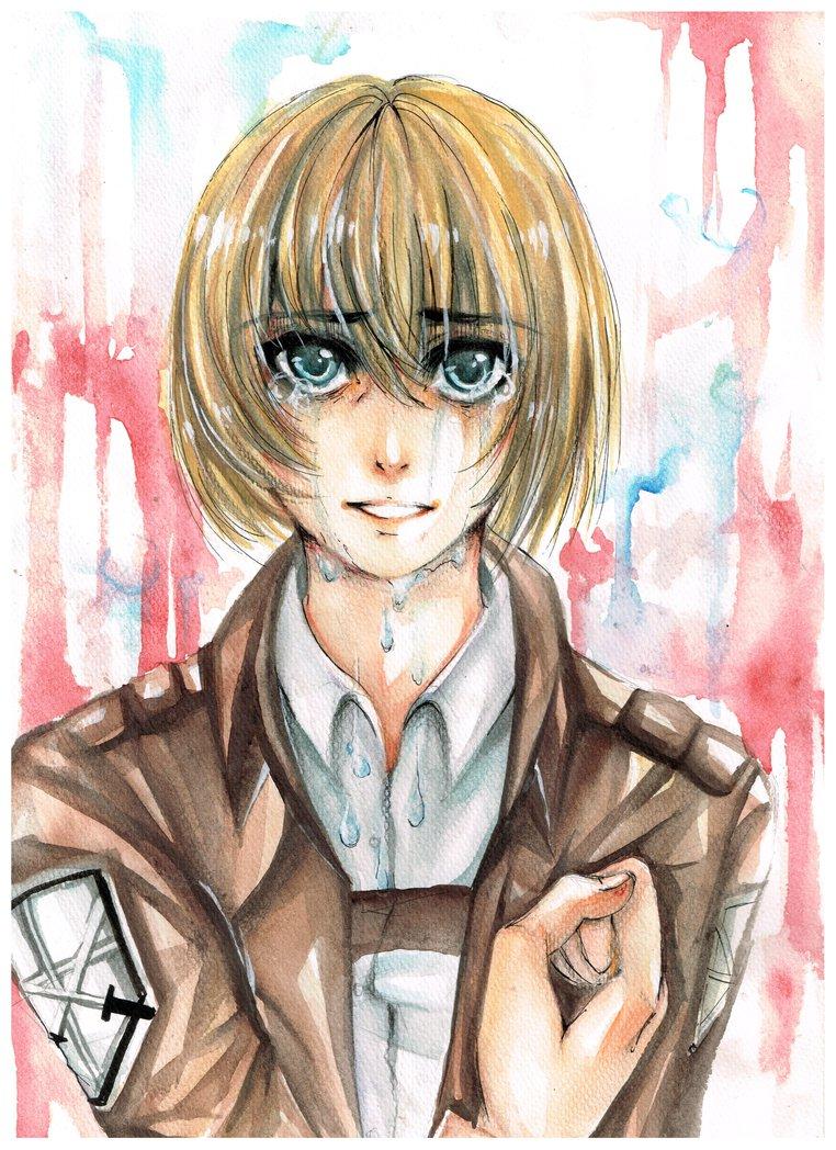 Crying Armin By Akareikou-d6xurge by AkaReikou