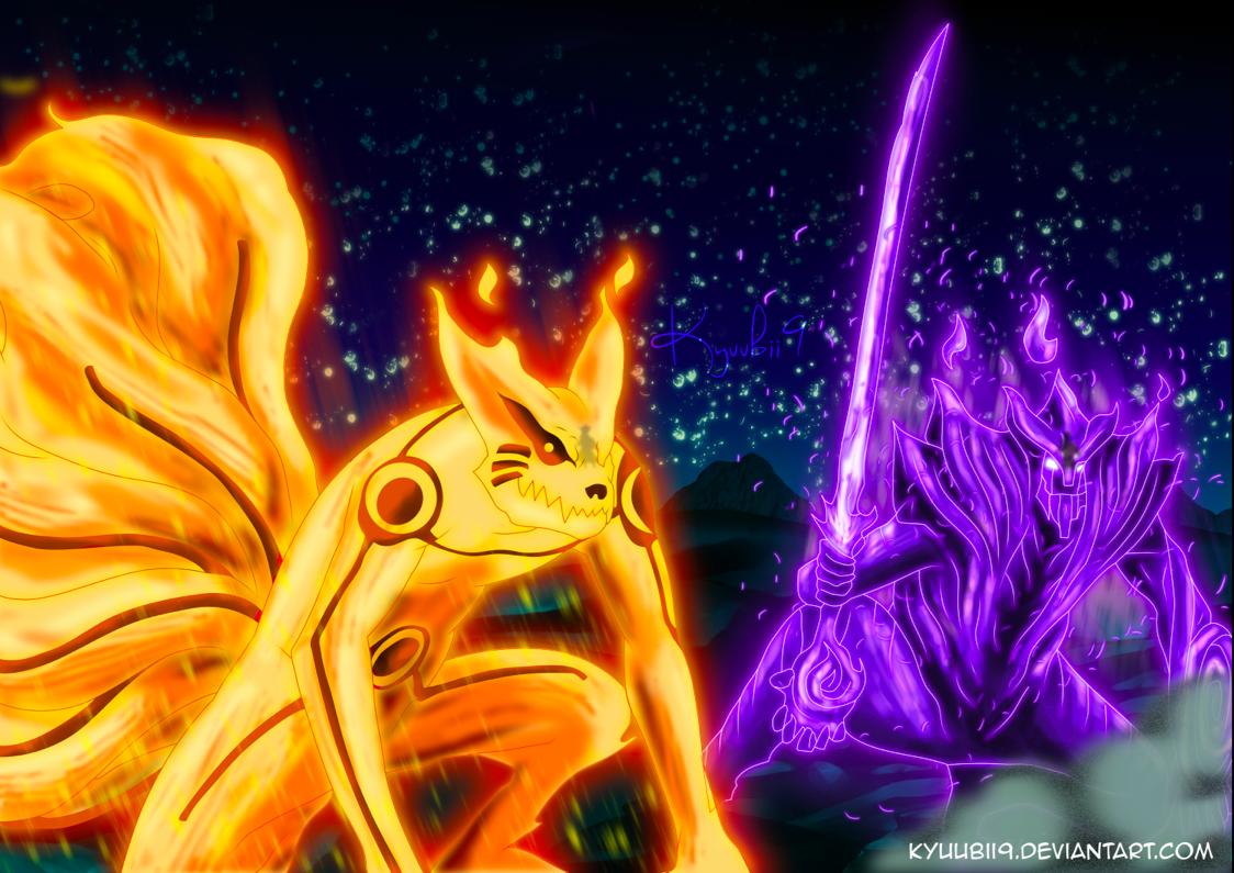 Naruto Kurama Mode Vs Sasuke Susanoo | www.imgkid.com ...