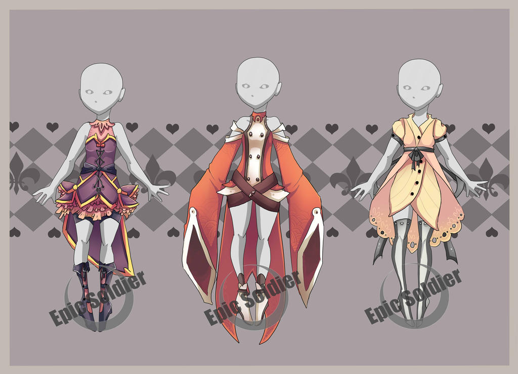 Costume adoptables closed by Epic Sol r on DeviantArt