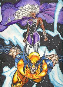 Ororo and Logan by Reiku03
