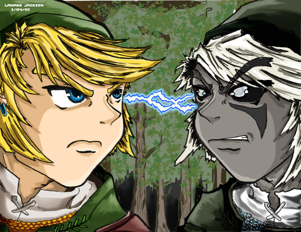 Link vs. Shadow Link by Reiku03