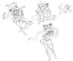 Sailor Moons by artkitty