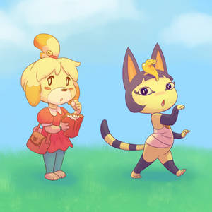 Acnl Isabelle and Ankha