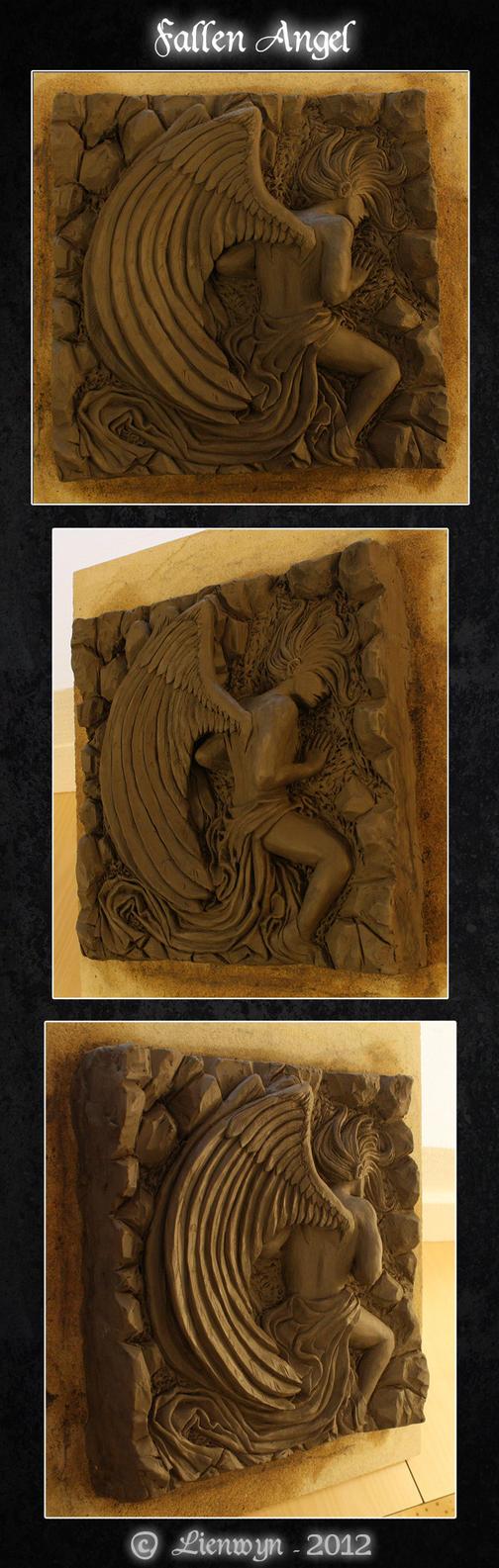 Fallen Angel Relief by Lienwyn