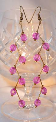 Lilac Cascade - Beaded Earrings