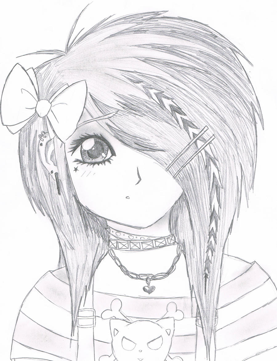 Emo Scene Drawings Emo Scene Gurl by