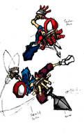 Mangaverse Spidey and Scarlet