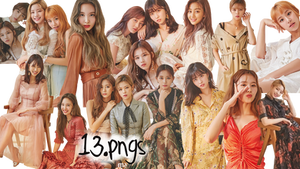 TWICE PNG Pack {Marie Claire Photoshoot} by soshistars